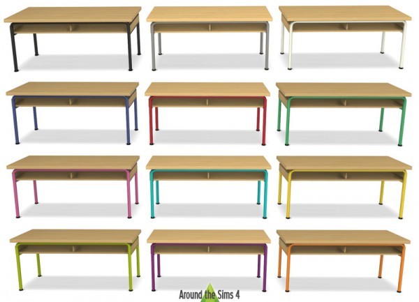 Around The Sims 4: School Furniture & Accessories