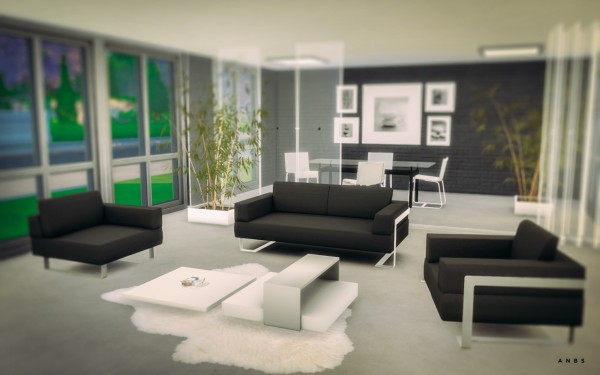 Alachie and brick sims toronto livingroom sims 4 downloads for Modern living room sims 4