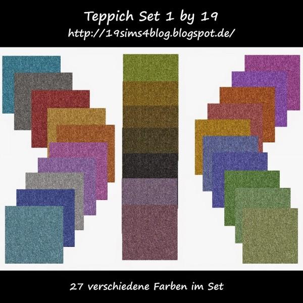 19 Sims 4 Blog: Carpet set 01