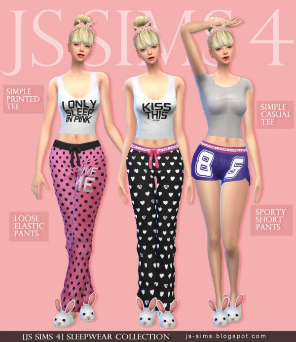Sims 4 Cc S The Best Windows By Tingelingelater: JS Sims 4: Sleepwear Collection • Sims 4 Downloads
