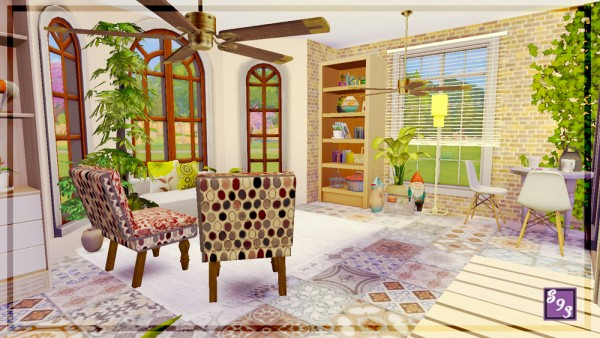 the stories sims tell modern spectrum brown sunroom. Black Bedroom Furniture Sets. Home Design Ideas