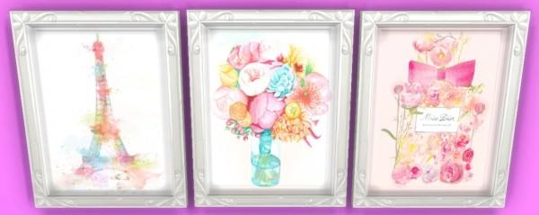 Sunshine & Roses Custom Content: Elegant Girly Wall Art