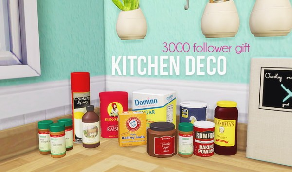 LinaCherie: Kitchen deco   11 meshes by Living Dead Girl 3000 Follower gift