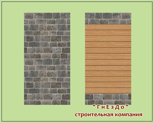 Sims 3 by Mulena: Wallpaper brick kladka 003a