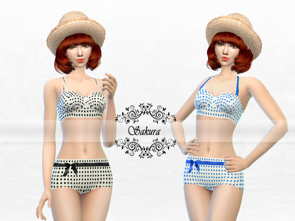 The Sims Resource: High Waisted Bikini by Sakura Phan