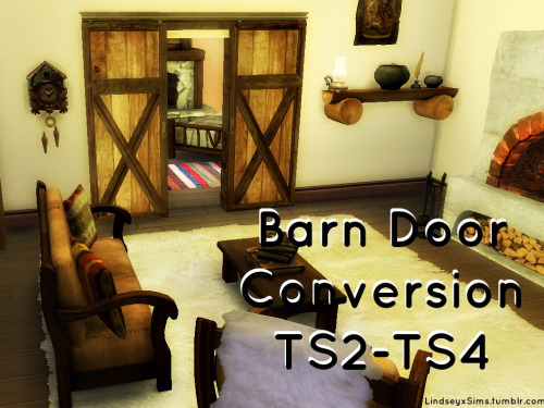 Lindseyx sims: Barn Doors converted from TS2 to TS 4