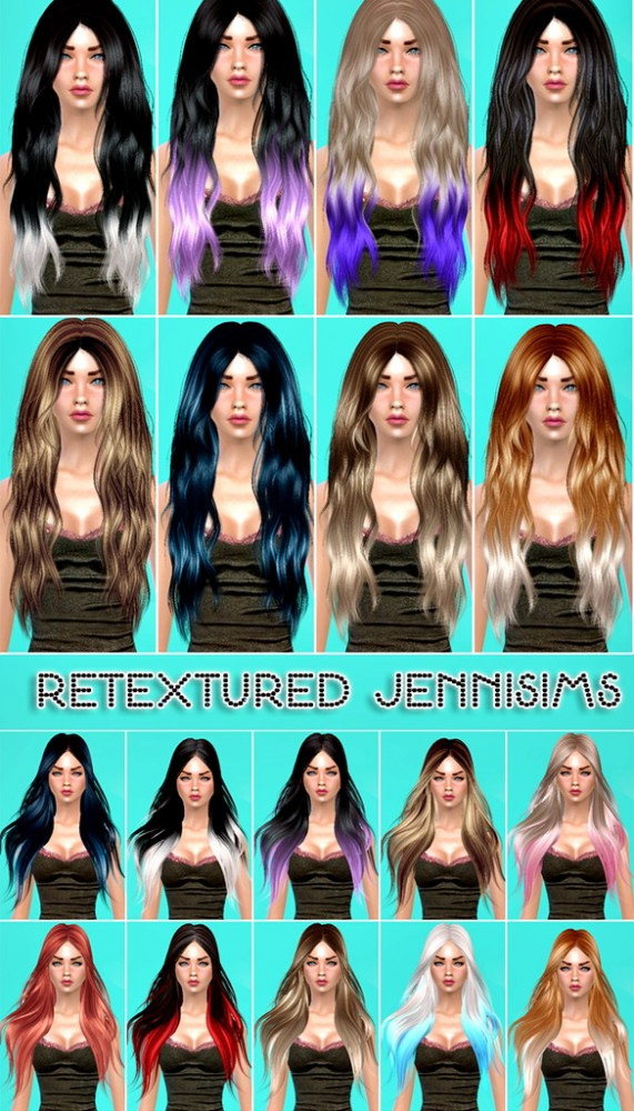Jenni Sims: Alesso,SkySims Hairs retextured