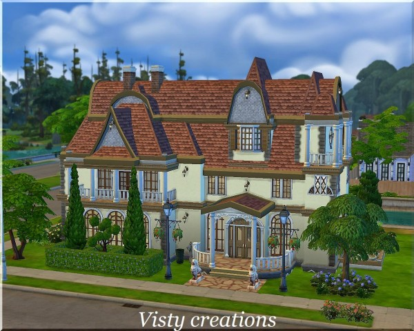 Visty6 french manor sims 4 downloads for French manor homes
