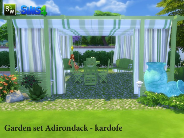 The Sims Resource: Garden set Adirondack by Kardofe