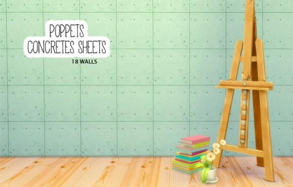 LinaCherie: Poppet's Concrete sheets walls