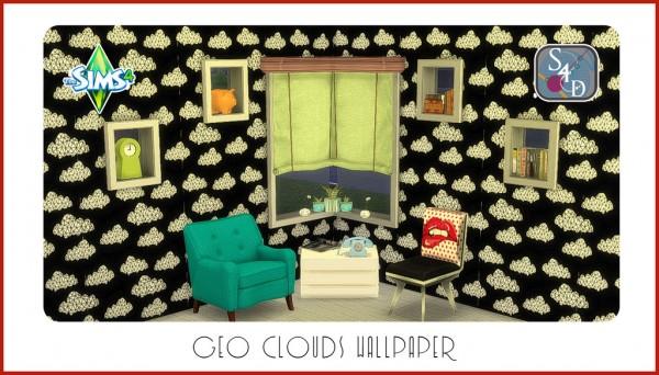 Sims 4 Designs: Geo Clouds Wallpaper