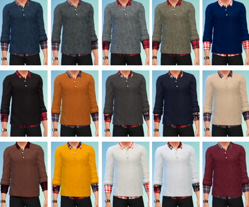 Marvin Sims: Plaid Layered Sweaters