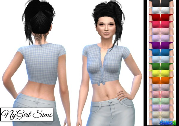NY Girl Sims: Knotted Crop Tee
