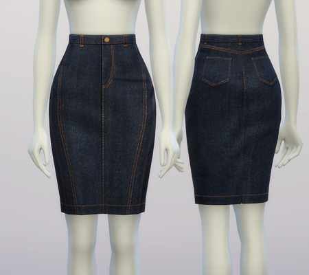 Rusty Nail Denim Skirt Sims 4 Downloads