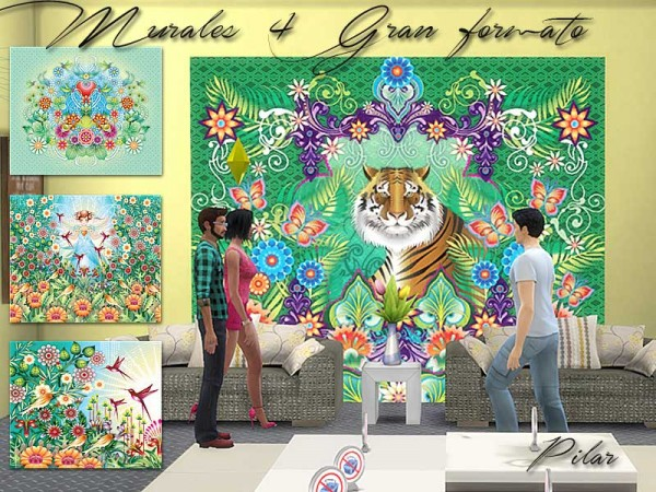SimControl: 4 Large format wall by Pilar