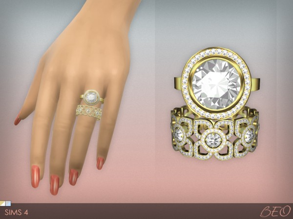 Beo Creations Diamond Rings Set Sims 4 Downloads