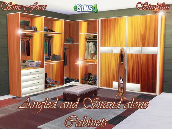 Sims Fans: Angled and Stand Alone Cabinets by Sim4fun