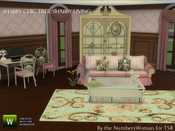 The Sims Resource: True Shabby Chic Living by The NumbersWoman