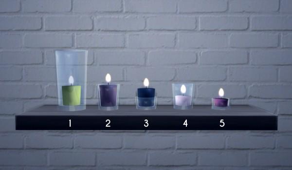 Omorfi Mera Glass Candles Sims 4 Downloads