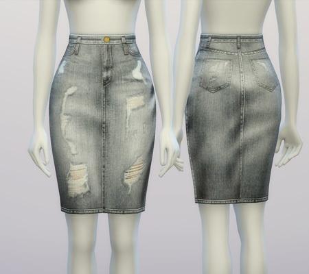 Rusty Nail: Denim skirt V 2 • Sims 4 Downloads