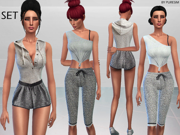 The Sims Resource: Warm Up Outfits by PureSim