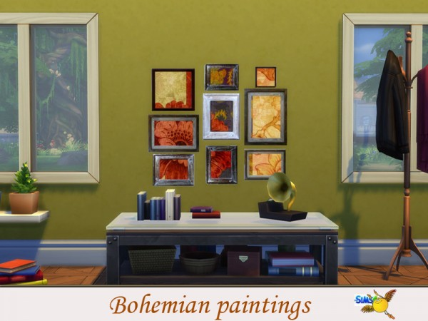 The Sims Resource: Bohemian paintings by Evi