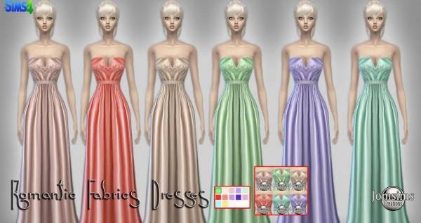 Jom Sims Creations: Romantic fabrics dress