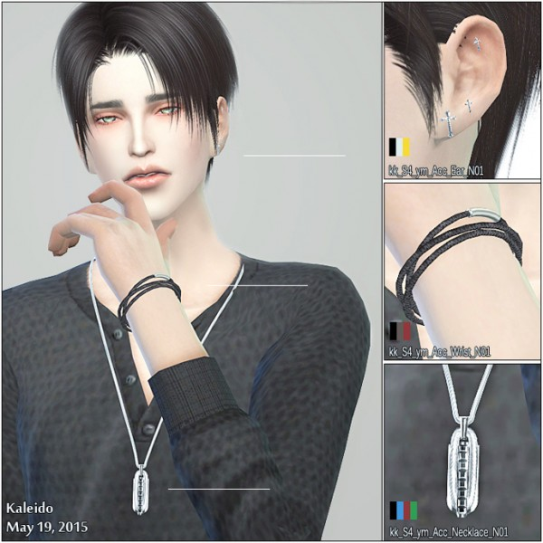 kk sims: Earrings, bracelet and necklace
