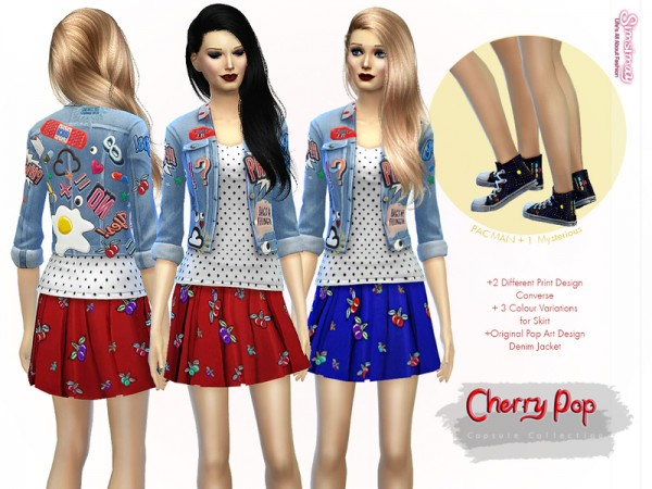 The Sims Resource: Cherry Pop Capsule Collection I by Simsimay