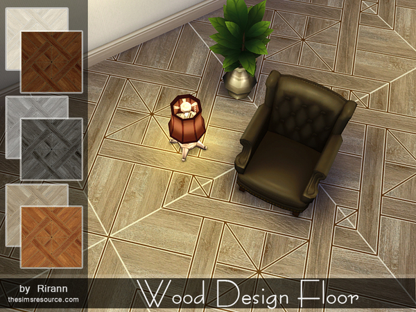 The Sims Resource: Wood Design Floor by Rirann