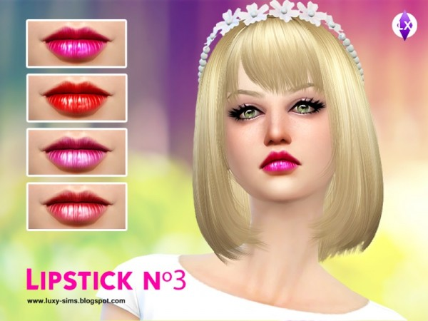 The Sims Resource: Lipstick N3 by LuxySims3