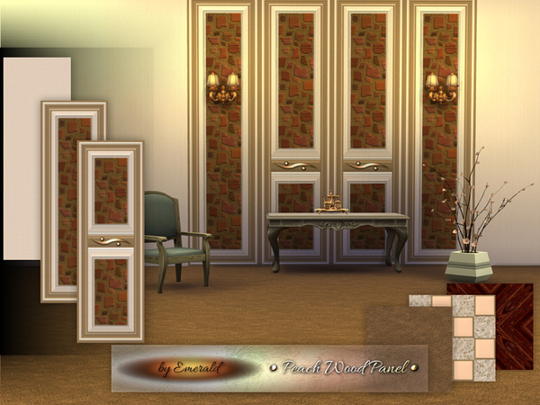 The Sims Resource: Peach Wood Panel by emerald
