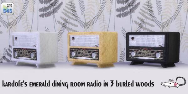 Loveratsims4: Kardofe Emerald dining radio