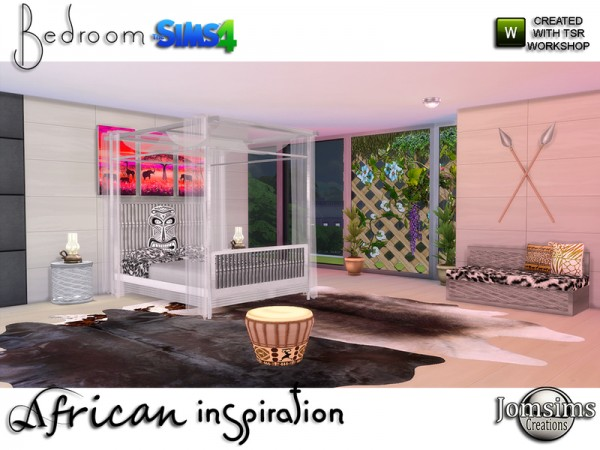 The Sims Resource: African inspiration bedroom by jomsims