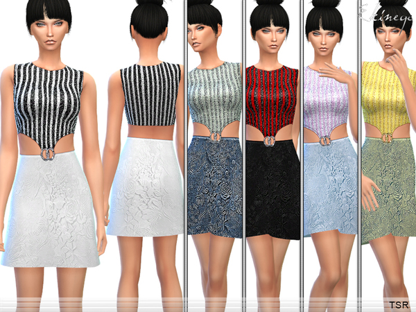 The Sims Resource: Sequin Embroidered Dress by ekinege