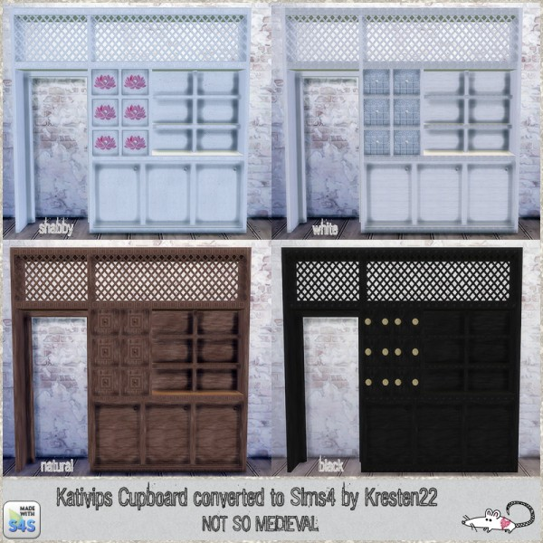 Loveratsims4: Cupboard converted from TS2 to TS4