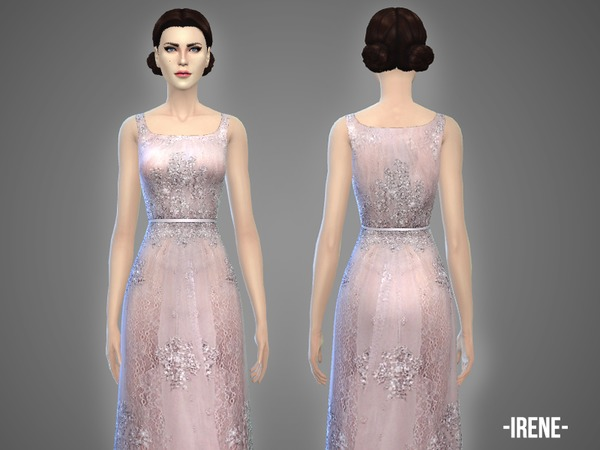 The Sims Resource: Irene   gown by April