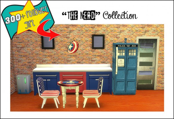 Sims 4 Designs: Followers Gift: The Nerd Mega Collection