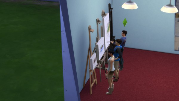 Mod The Sims: Portable EA easels with live drag mode enabled by necrodog