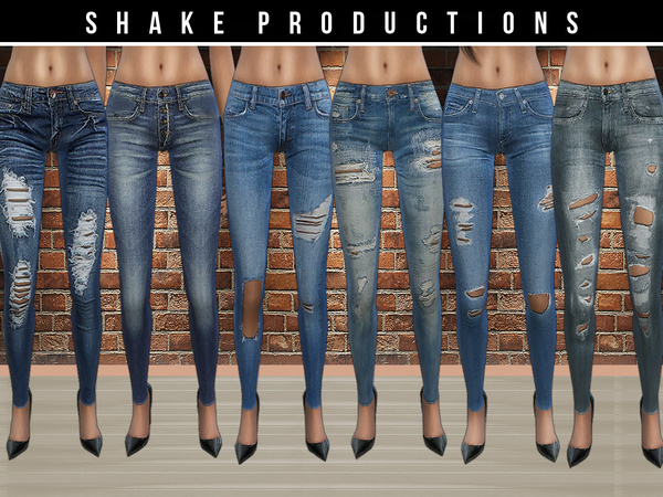 The Sims Resource: Jeans set 27 by ShakeProductions
