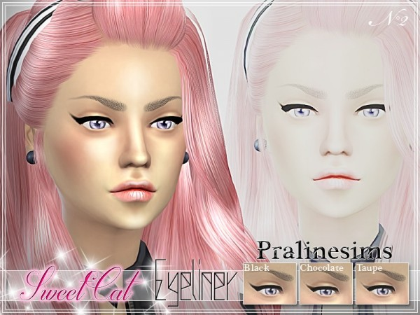 The Sims Resource: Sweet Cat Eyeliner by Pralinesims