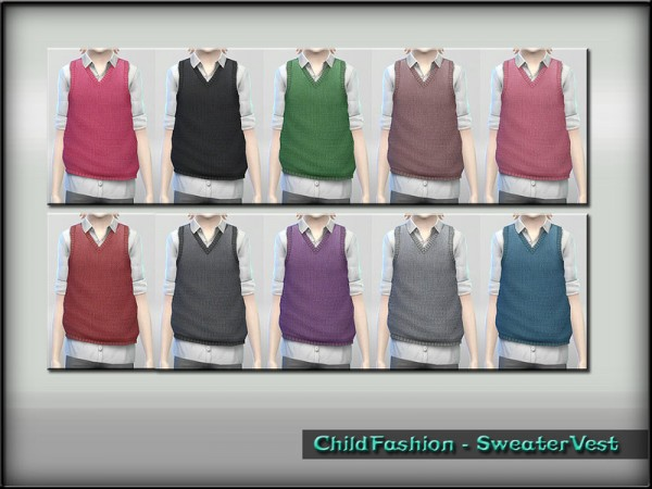 The Sims Resource: Sweater Vest by ShojoAngel
