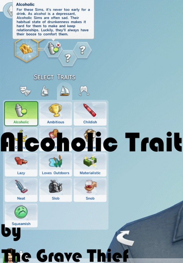 Mod The Sims Alcoholic Trait By Thegravethief Sims 4