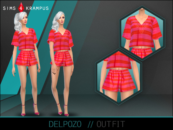 The Sims Resource: Delpozo Outfit by SIms4Krampus