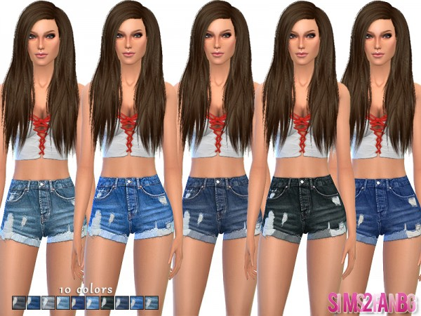 The Sims Resource: 52   Denim shorts by SIms2fanbg