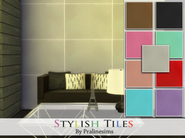 The Sims Resource: Stylish Tiles by Praline Sims
