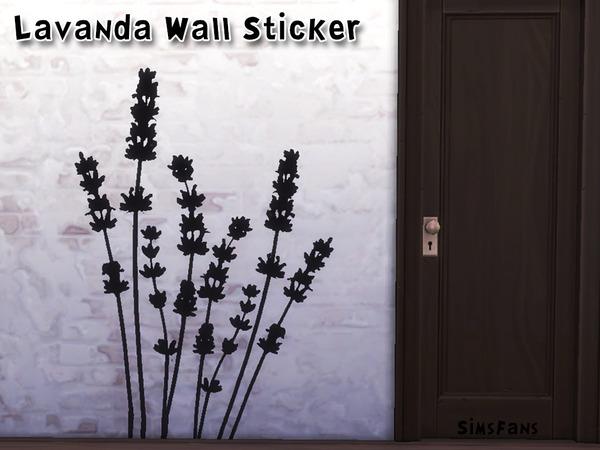 Sims Fans: Lavanda Wall Sticker by Melinda
