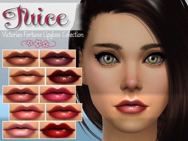 The Sims Resource: Juice Lipgloss Collection by fortunecookie1