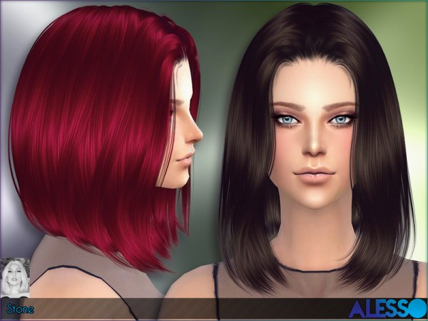 The Sims Resource: Alesso   Stone Hair