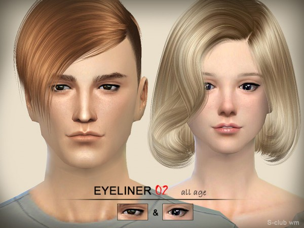 The Sims Resource: Eyeliner 02 by S Club
